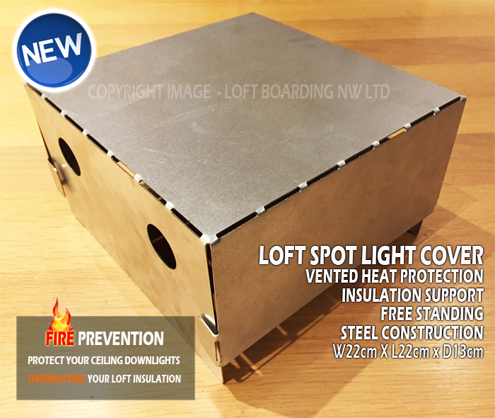 Fire & Heat protection spot light covers
