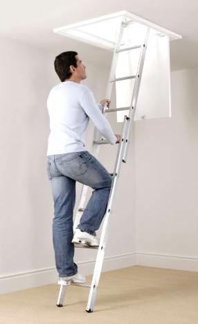 2 Section Aluminium Loft Ladder