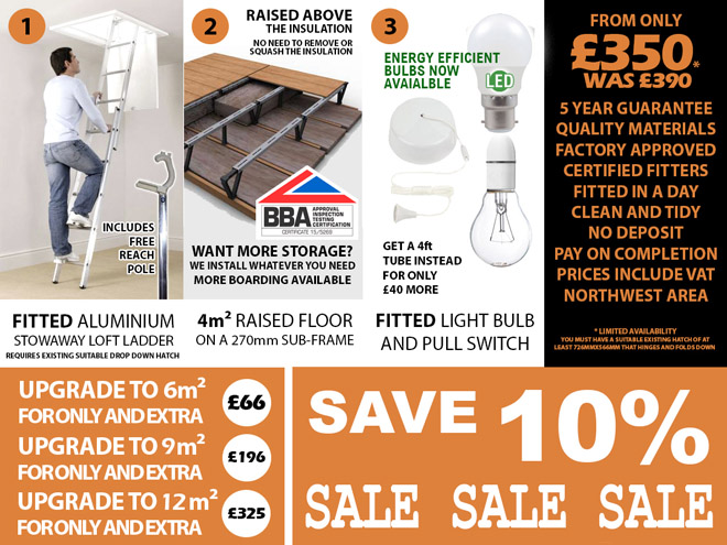 Great Deals In 2017 for Professionally Installed Raised and Strengthened Loft Storage & Loft Boarding
