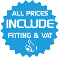 ALL PRICES INCLUDE FITTING