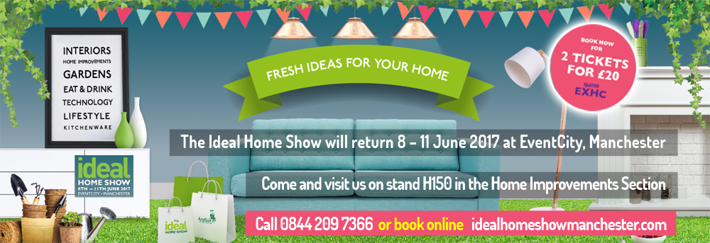 Loft Boarding Northwest - Stand H150 - Event City Ideal Home Show Manchester - 8th to 11th June 2017
