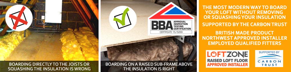 Loft Boarding West Yorkshire - Raised Loft Floor Solutions - Raising loft storage above your insulation