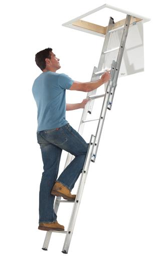 3 Section Aluminium Loft Ladder
