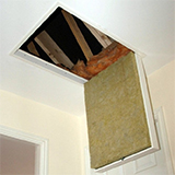 Made to measure fold down metal loftg hatch