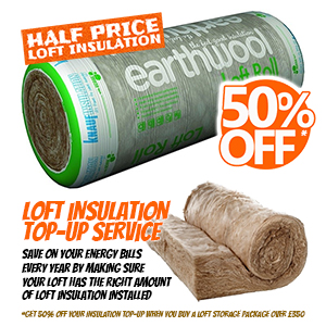 50% OFF loft insulation top-up service
