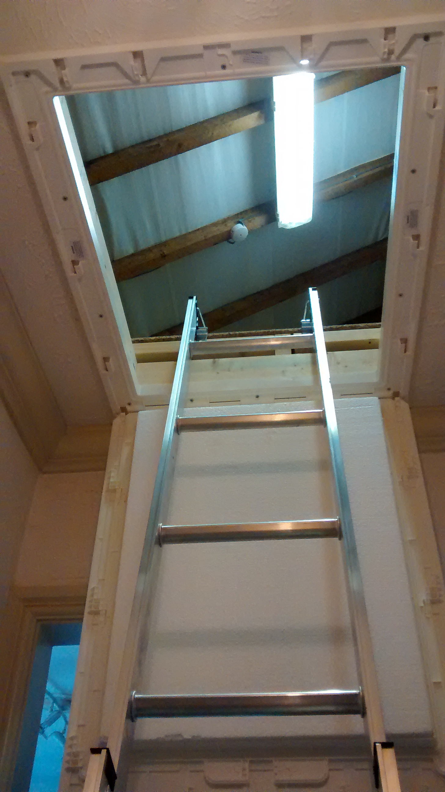 2 Section Wood Sliding Loft Ladder