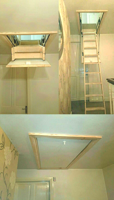 Loft ladders in aluminium and wood