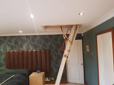 Mini loft conversion by UK Loft Boarding Ltd - 0800 87 99967