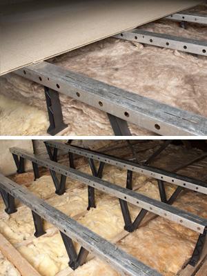 Raised Loft Sub Frame and Storage Boarding