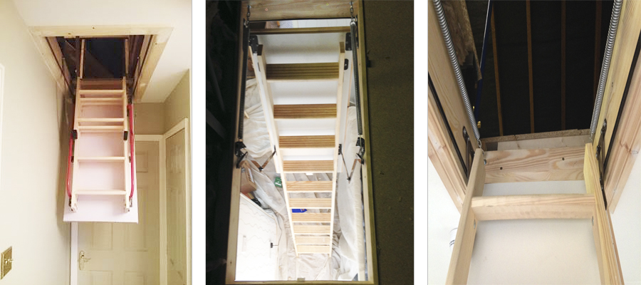 timber loft ladders