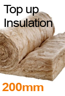 200mm Loft Insulation Top-up Service from only £12 p/m² with a loft storage package